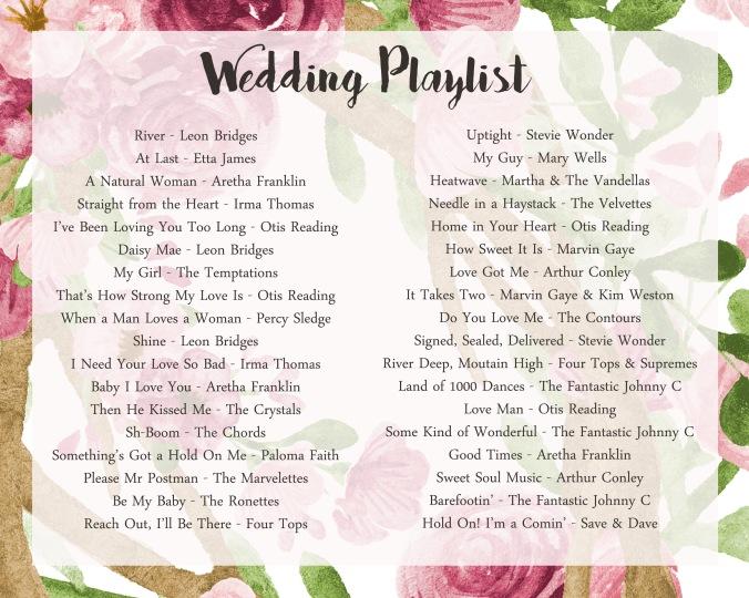 Wedding Playlist.