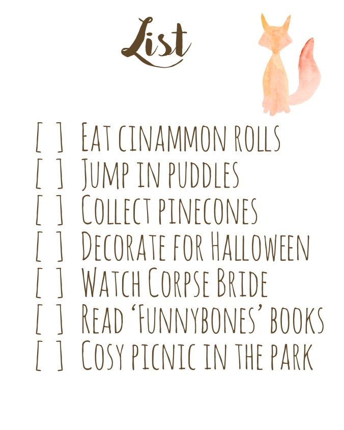 Autumn Bucket List2